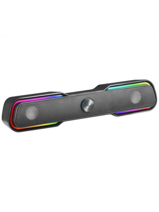 Colunas MARS GAMING MSBX RGB SOUNDBAR 10W USB, JACK + BLUETOOTH 5.0, DYNAMIC RGB, BLACK