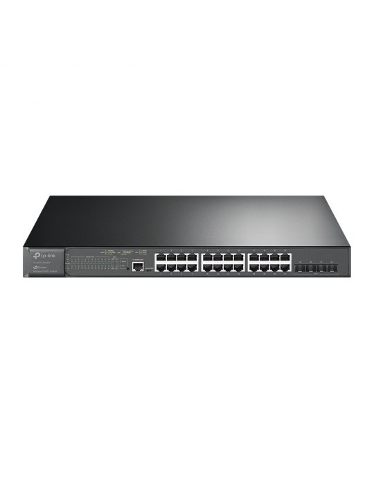 Switch TP-Link JetStream 24Portas Gigabit, 4Portas 10GE SFP+ Interrup. gerenciado c- PoE+, 24 portas