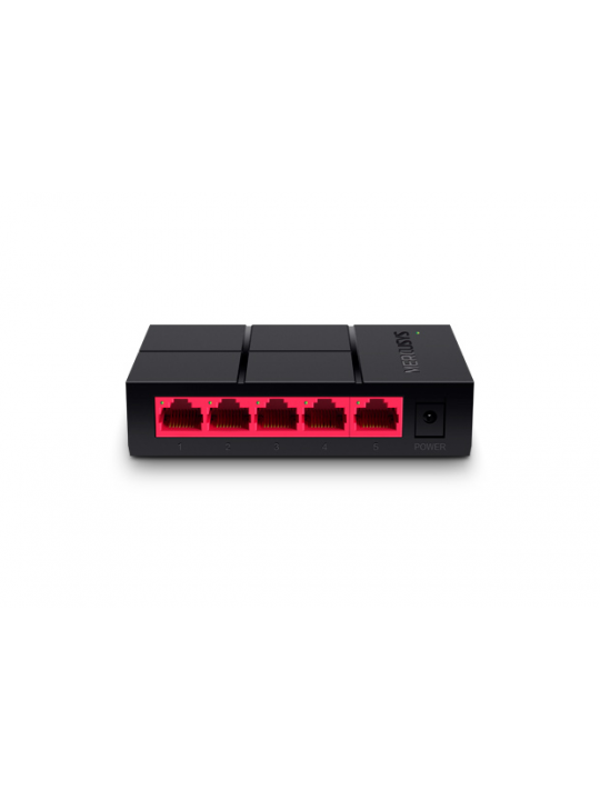 Switch MERCUSYS 5-port 10-100-1000M mini Desktop Switch, 5 10-100-1000M RJ45 ports, Plastic case