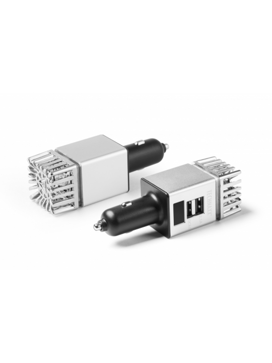 Technaxx - Car Air Purifier for cigarette lighter 2x USB