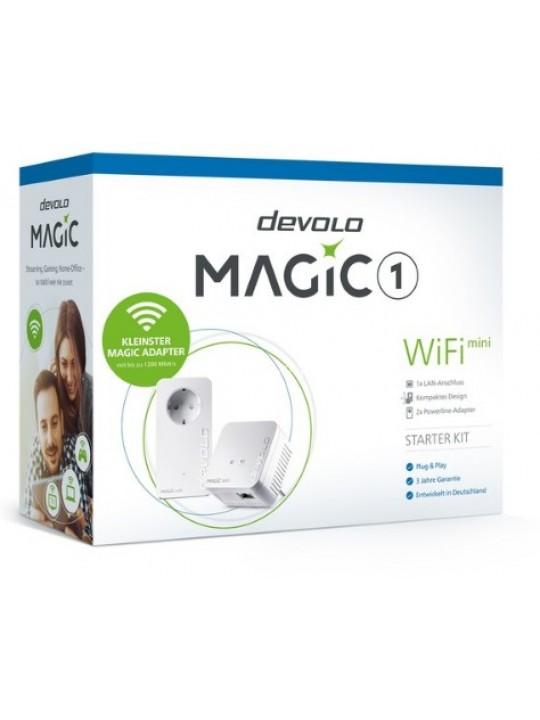 Devolo Magic 1 WiFi mini, Starter Kit, Velocid. PLC até 1200Mbps, Wi-Fi mesh c- 1 Porta LAN - PT8568