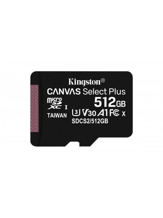 MicroSD Kingston Canvas Select Plus 512GB class10 UHS-I SDHC(100MB-s-85MB-s)