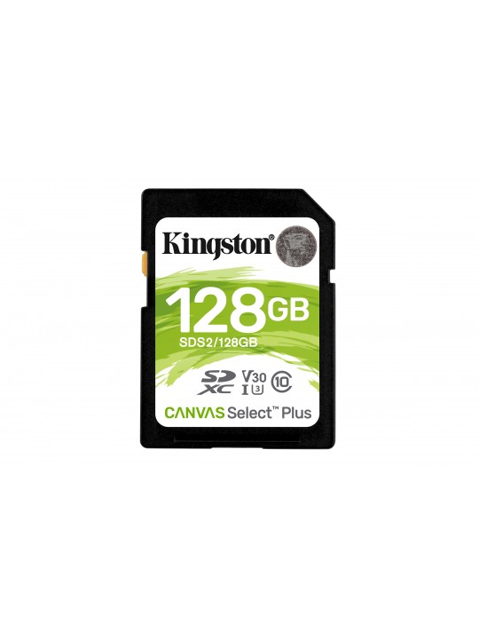 SD Kingston Canvas Select Plus 128GB class10 UHS-I SDHC(100MB-s-85MB-s)