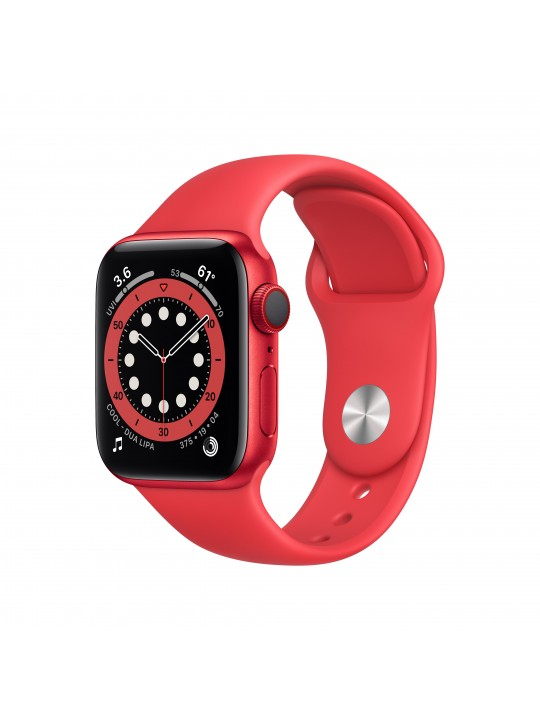 Apple Watch Series 6 GPS + Cellular, 40mm(PRODUCT)RED Aluminium Case with(PRODUCT)RED Band - Regular