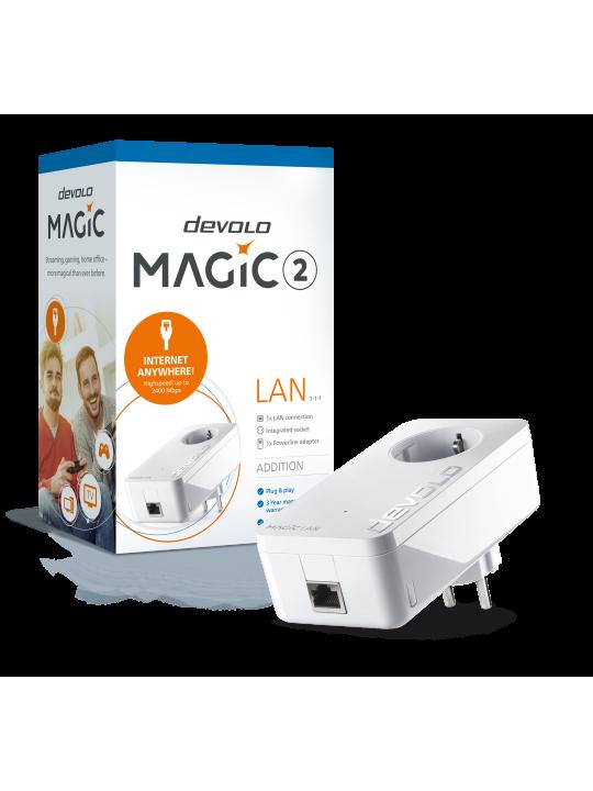 Devolo Magic 2 LAN,Adaptador adicional,Velocidade Powerline até 2400Mbps c- 1 Porta LAN- PT8259