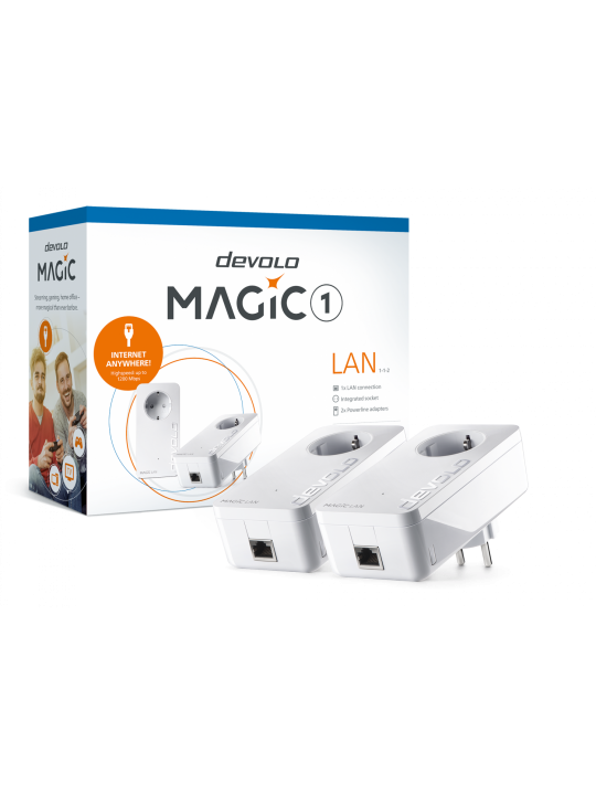 Devolo Magic 1 LAN,Starter Kit,Velocidade Powerline até 1200Mbps c- 1 Porta LAN- PT8302