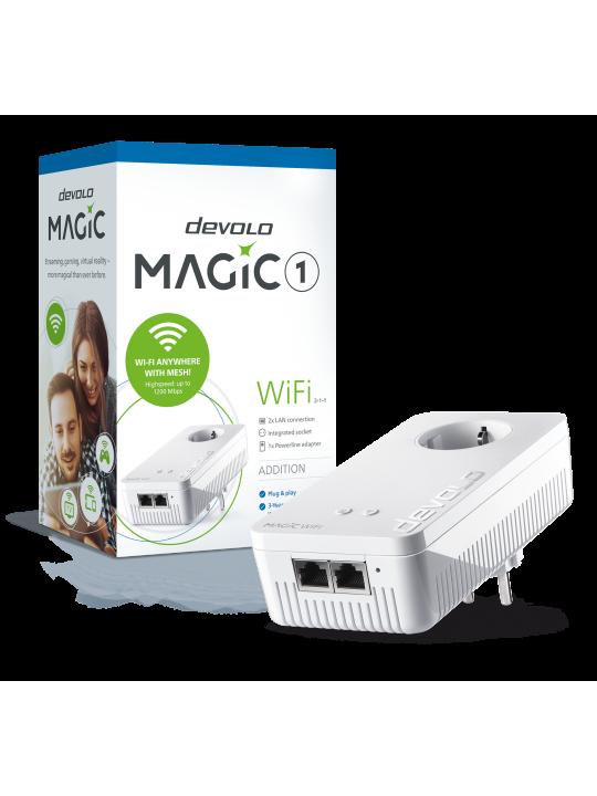 Devolo Magic 1 WiFi,Adaptador adicional,Velocid. PLC até 1200Mbps,Wi-Fi mesh c- 2 Portas LAN- PT8358