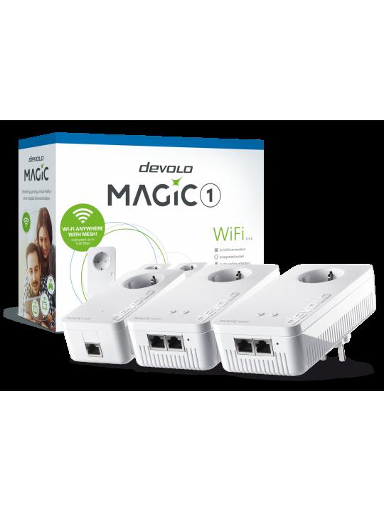 Devolo Magic 1 WiFi,Multiroom Kit,Velocidade PLC até 1200Mbps,Wi-Fi mesh c- 2 Portas LAN- PT8374