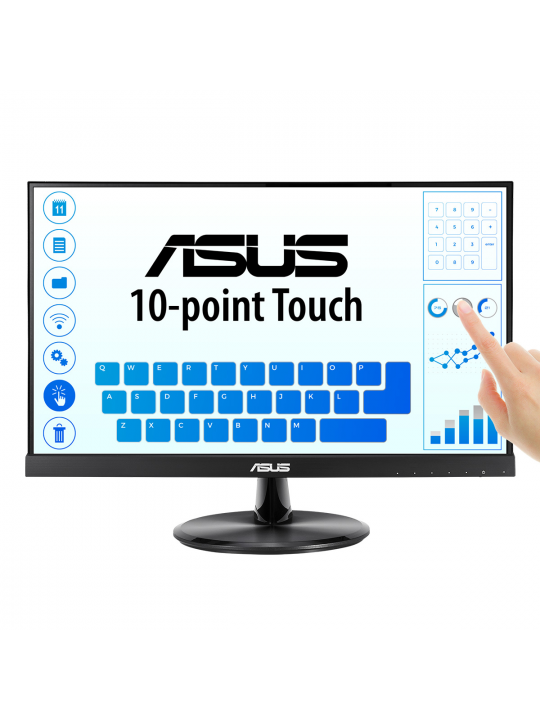 Monitor Asus VT229H 21.5´´ FHD 1920x1080 5ms, IPS 178°, TS 10-Point Touch, HDMI-D-Sub-Audio-in-USB2.0