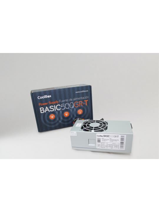 CoolBox BASIC500GR-T fonte de alimentação 500 W 20+4 pin ATX TFX Cinzento