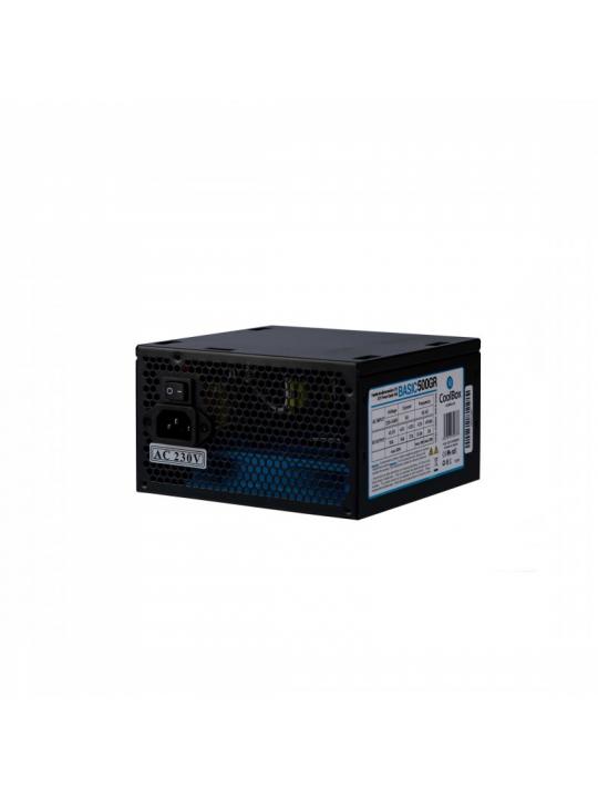 CoolBox Basic 500GR ATX fonte de alimentação 500 W 20+4 pin ATX Preto