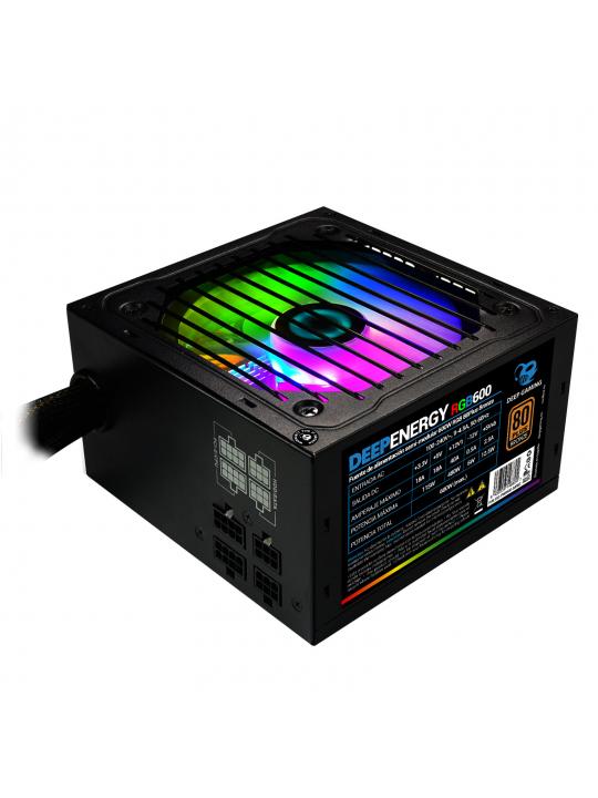 CoolBox DeepEnergy RGB600 fonte de alimentação 600 W 20+4 pin ATX ATX Preto