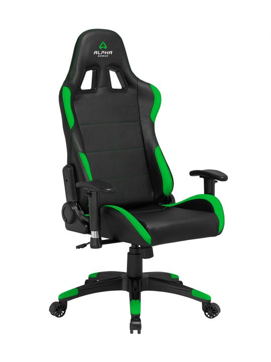 CADEIRA ALPHA Gamer Vega Black / Green - AGVEGA-BK-GRN