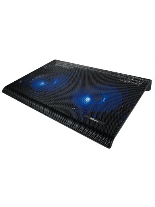 Base TRUST Azul 2x Ventoinhas Notebooks até 17.3