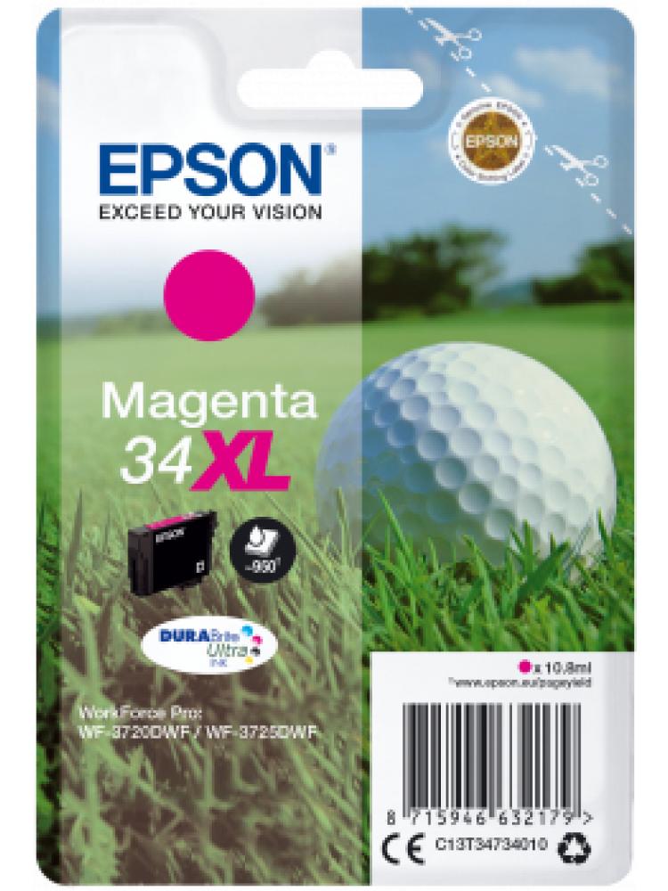 Tinteiro EPSON 34 Magenta XL - WorkForce Pro WF-3720/3725