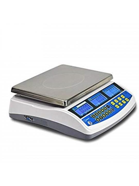 Balança DDIGITAL TW15/30- 15Kg/5Gr 30Kg/10Gr, Ligação a PC Rs232 c/Bateria