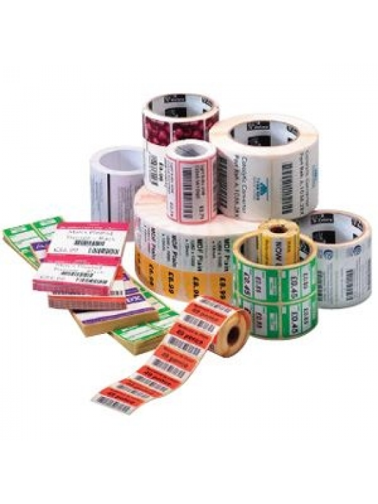 Etiquetas ZEBRA Z-Select 2000D 57x51mm, 1370 etiquetas, Pack 12 rolos