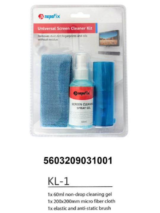 Gel Limpeza Napofix 60ml+Pano+Escova KL-1
