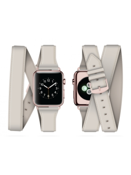 Griffin - Uptown Leather Band Apple Watch (38mm-ecru)