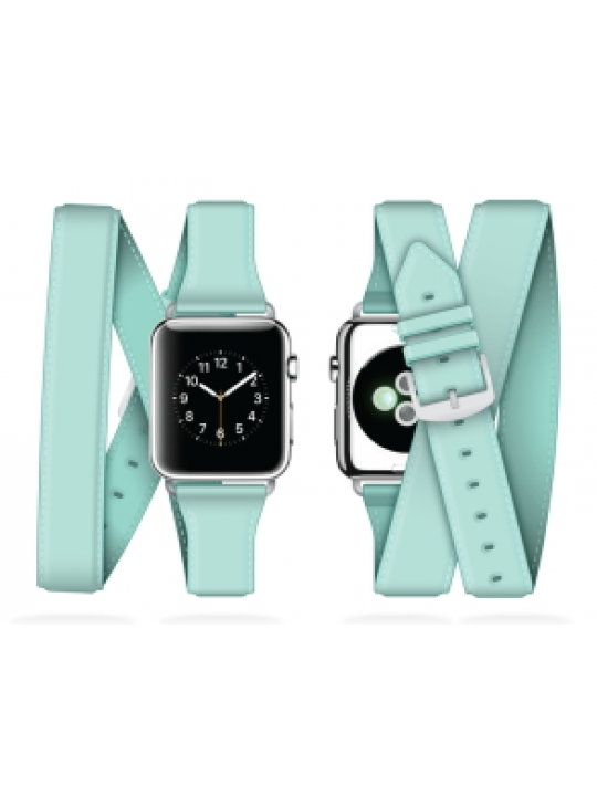 Griffin - Uptown Leather Band Apple Watch (38mm-seafoam)