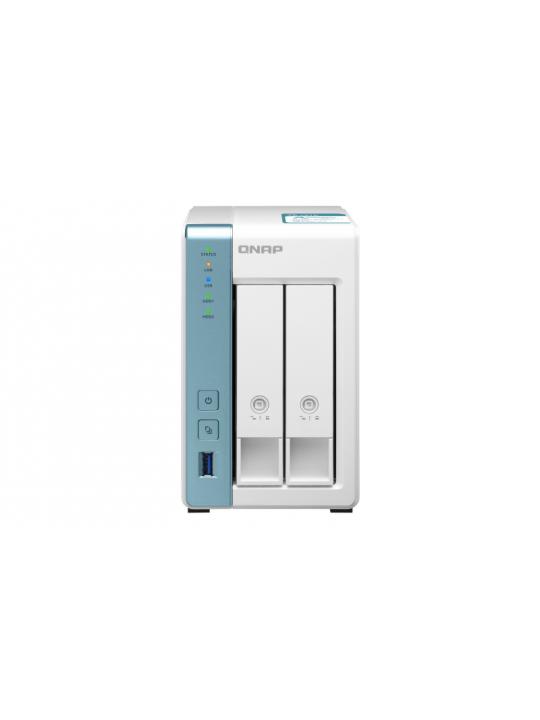 NAS QNAP - TS-231K - 2-bay SATA, ARM Quad-core 1.7GHz, 1GB RAM, HDD, 3xUSB3.0, 2x GbE LAN