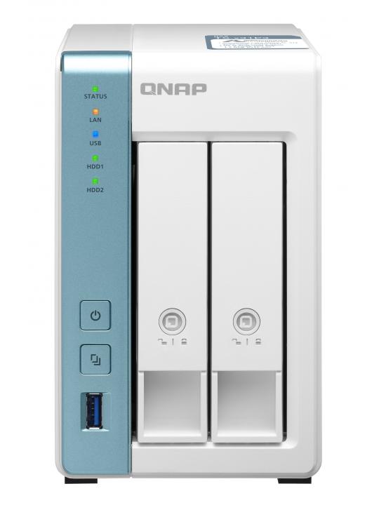 NAS QNAP 2-Bay Annapurna Labs Alpine AL-314 1.7GHz Quad Core/2GB/1x2.5Gb+1xGb/USB/Tower-TS-231P3-2G