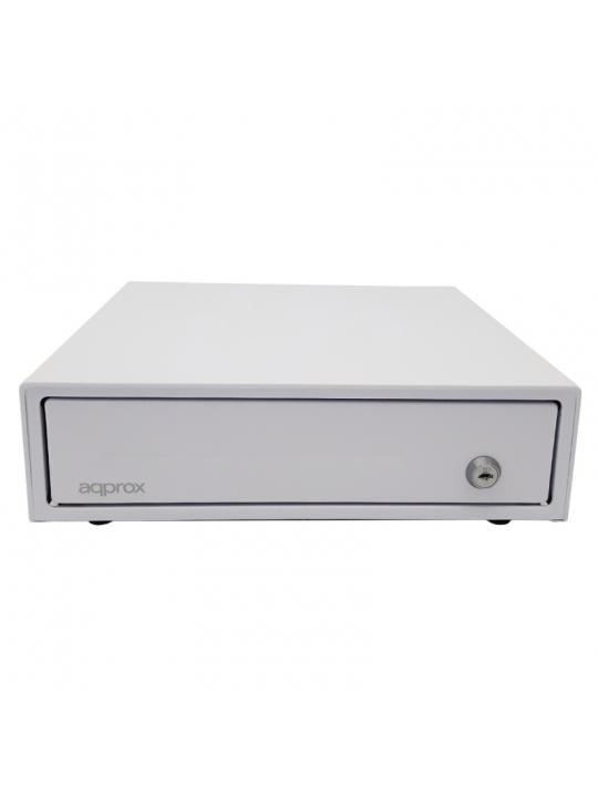 Gaveta de dinheiro APPROX compacta e elétrica - Branca