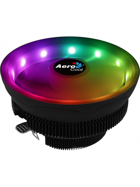Cooler AEROCOOL  COREPLUS CPU 12CM ARGB PWM FAN, NANOBLACK COATING, 110W - COREPLUS