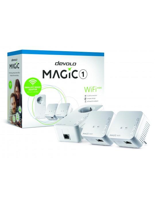 Devolo Magic 1 WiFi mini, Multiroom Kit, Velocid.PLC até 1200Mbps, Wi-Fi mesh c-1 Porta LAN - PT8577