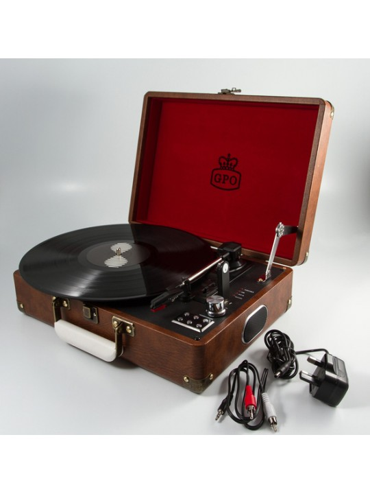 GPO RECORD PLAYERS Attaché Case Vintage Brown