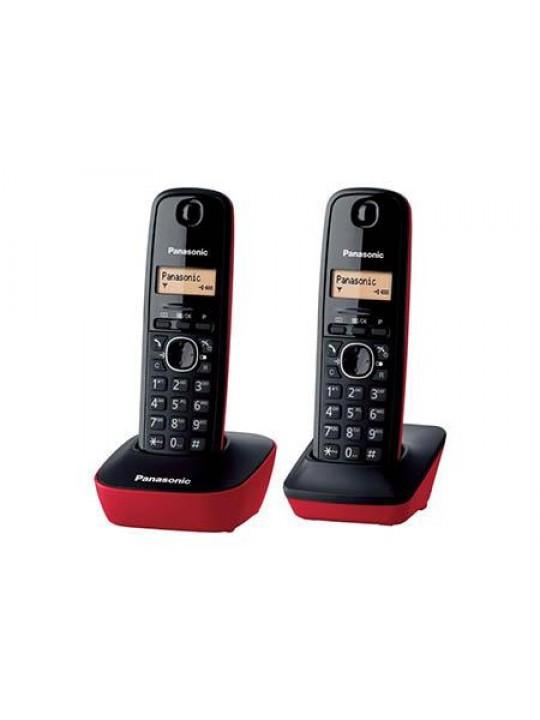 Panasonic Telefone sem fios TG1612 Kit Duo Verm
