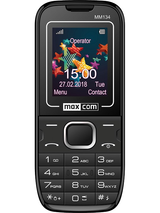 Telemovel Maxcom Classic MM134 1,77´´ Dual SIM 2G Preto