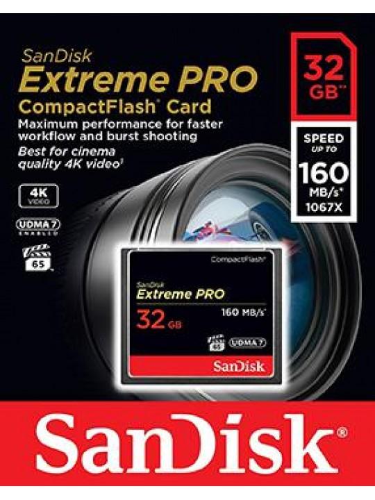 Sandisk cartao EXTREME PRO CF 32GB 160MB seg